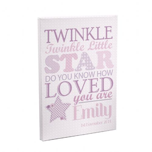 Personalised Twinkle Girls Canvas